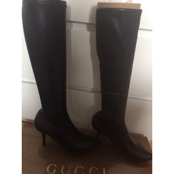 Traumhafte Original Gucci Stiefel schwarz Echtleder super Zustand Gr 37 1/2