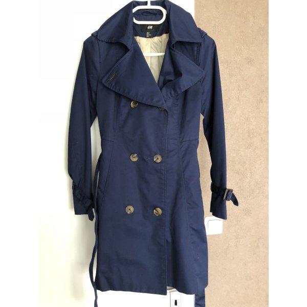 H&M Trenchcoat donkerblauw