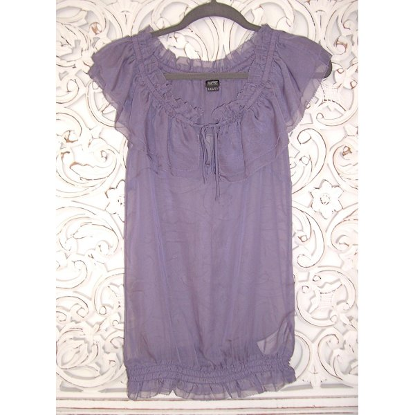 esprit collection Blouse à volants mauve polyester