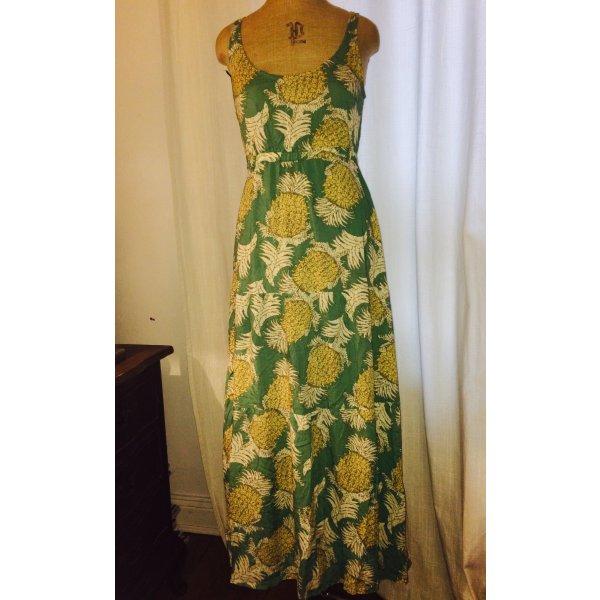Trendiges Maxiträgerkleid, mit Stufenrock und tollen Ananasmuster
