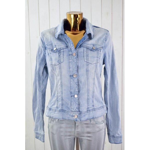 TRIBECA NEW YORK Damen Jeansjacke Mod.Mariso Hellblau Dunkelblau Stretch Gr. M