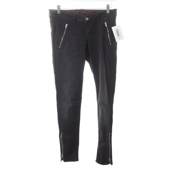 Tribeca New York Skinny Jeans schwarz Casual-Look