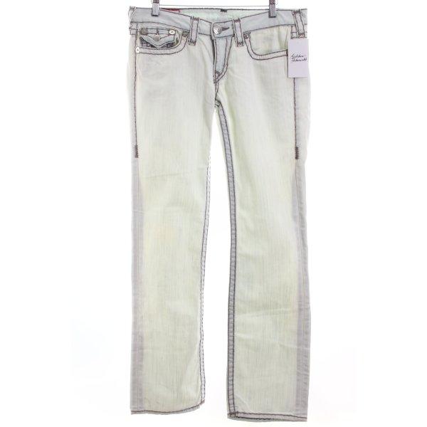 True Religion Boot Cut Jeans hellblau Casual-Look