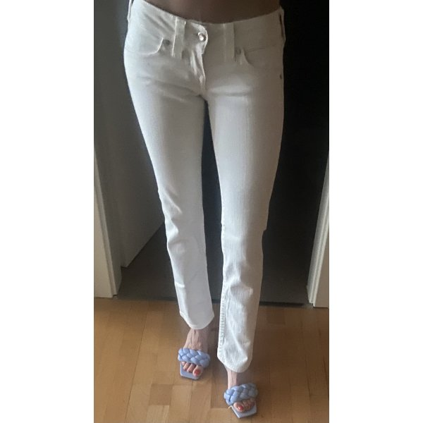 True Religion Jeans Straight Leg weiß Gr.24