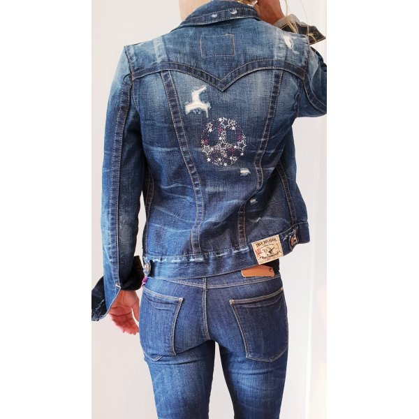 True Religion 'jimmy first edition' Jeansjacke Denim Jacket sommer ibiza boho hippie coachella Festival