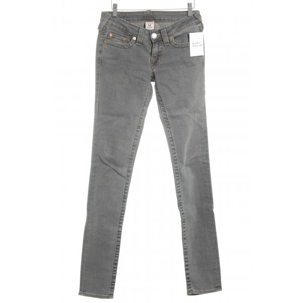 True Religion Slim Jeans grau Street-Fashion-Look