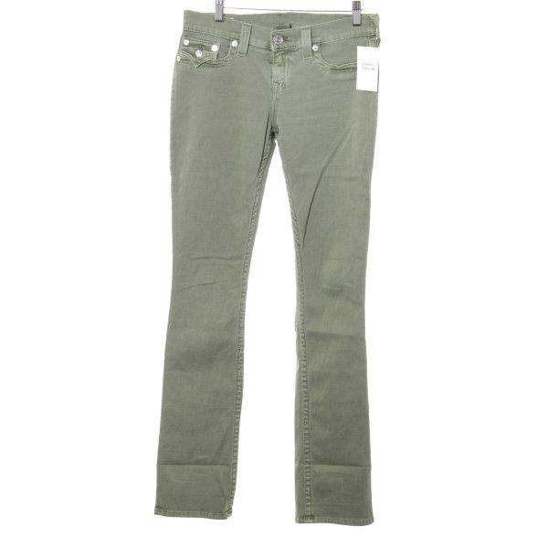 True Religion Slim Jeans khaki Logo-Applikation