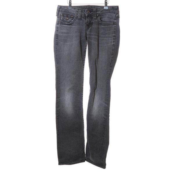 True Religion Straight-Leg Jeans hellgrau Casual-Look