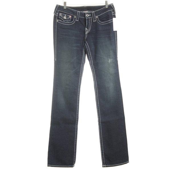 True Religion Straight-Leg Jeans dunkelblau Jeans-Optik