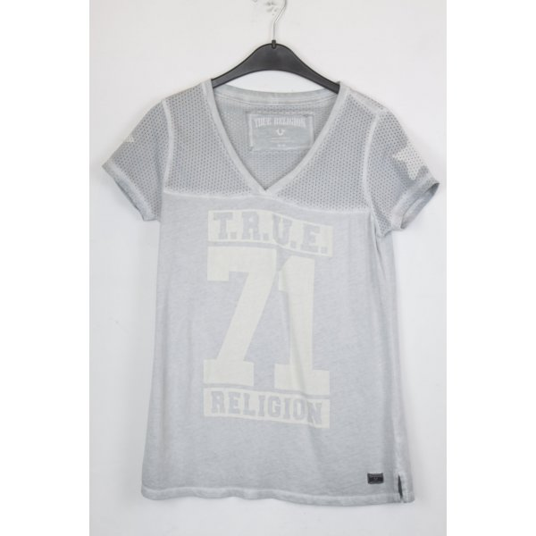 True Religion T-shirt Gr. M hellgrau (18/5/137)