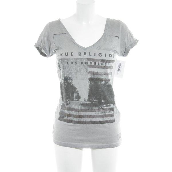 True Religion T-Shirt grau Casual-Look