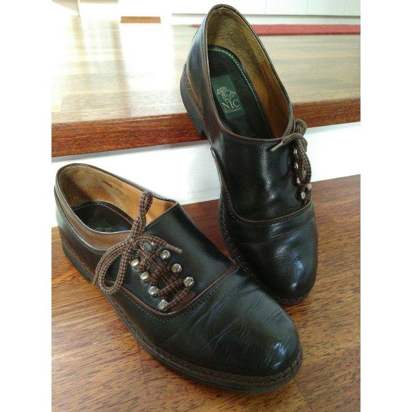 True Vintage Leder Schuhe Haferlschuh Tracht