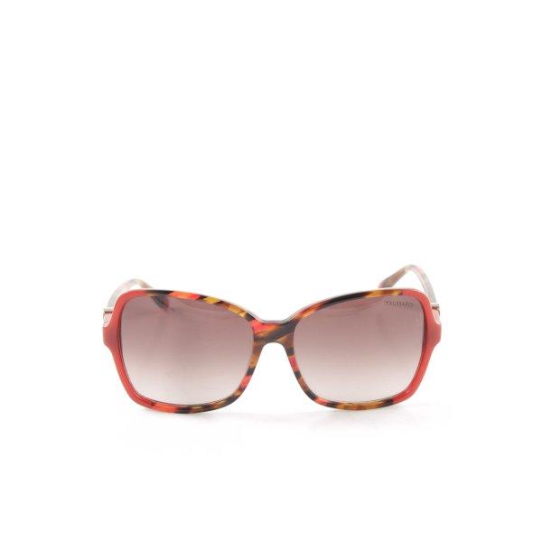 Trussardi Retro Brille grafisches Muster Casual-Look