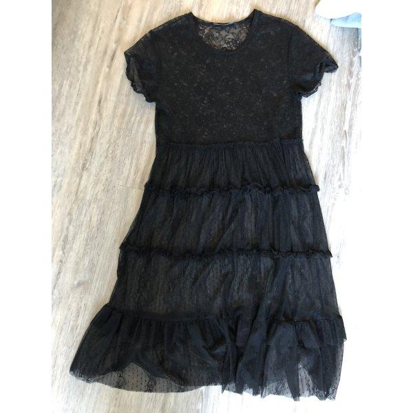 Tüllkleid Kleid Zara Spitzenkleid