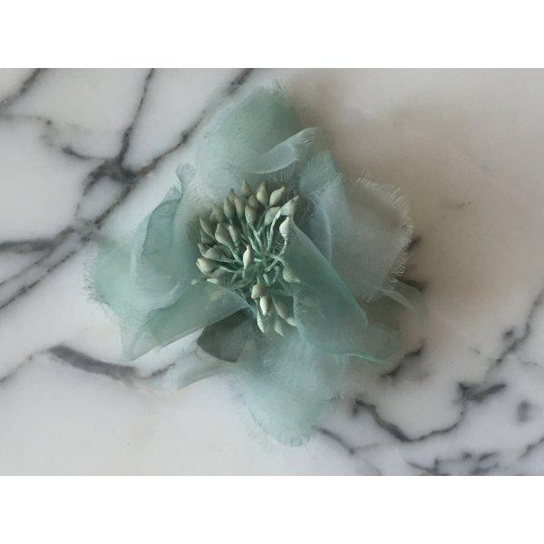 Türkise Blumen Haarspange