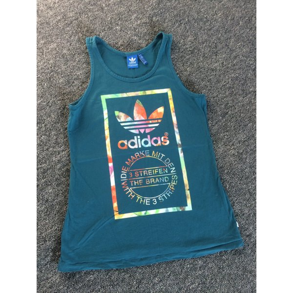 Türkisgrünes Adidas Top