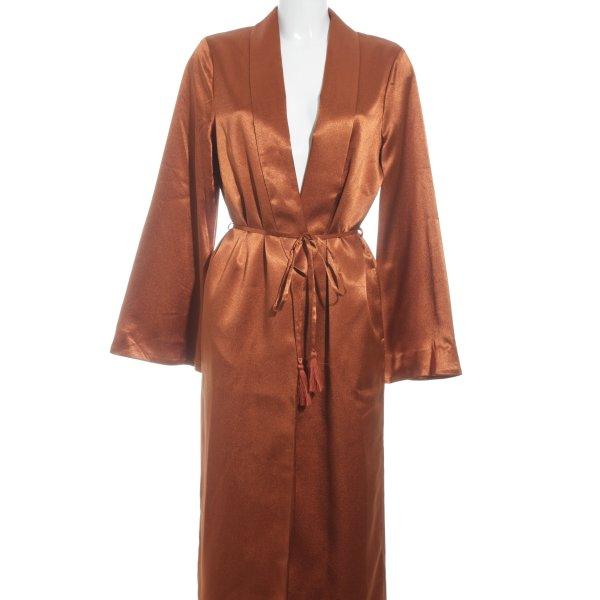 Tularosa bodenlanger Mantel rostrot extravaganter Stil