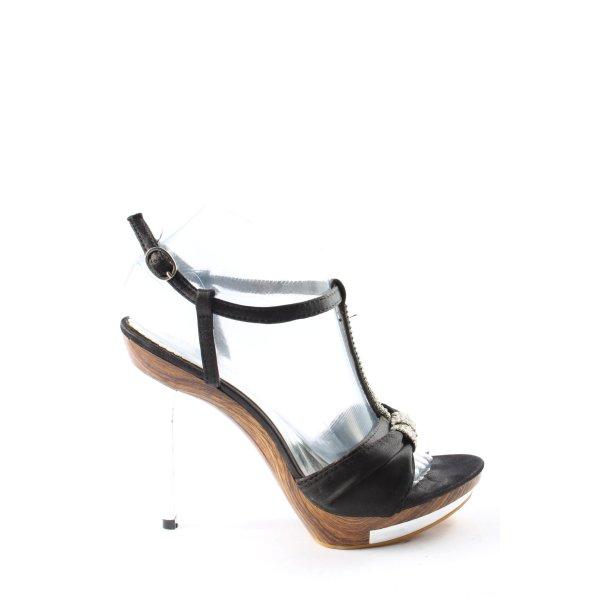 Tulipano High Heels schwarz-braun Casual-Look