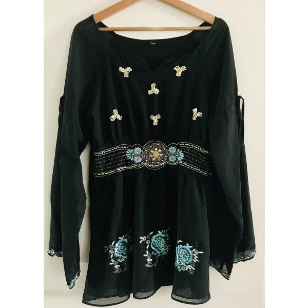 Bluzka tunika czarny