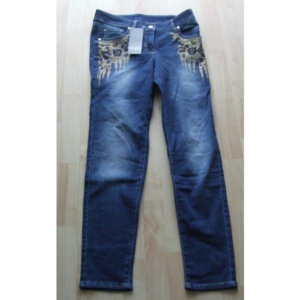 TUZZI Slim Fit Jeans Mit Straß - Gr. 40 - NEU
