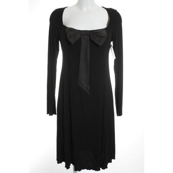Twin set Babydollkleid schwarz-dunkelgrau Elegant