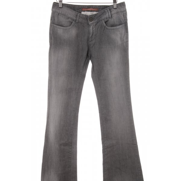 Twin set Jeansschlaghose grau Casual-Look