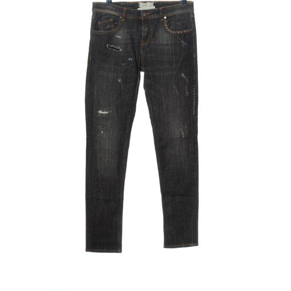 Twin set Straight-Leg Jeans schwarz Casual-Look