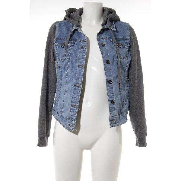 Twintip Jeansjacke kornblumenblau Jeans-Optik