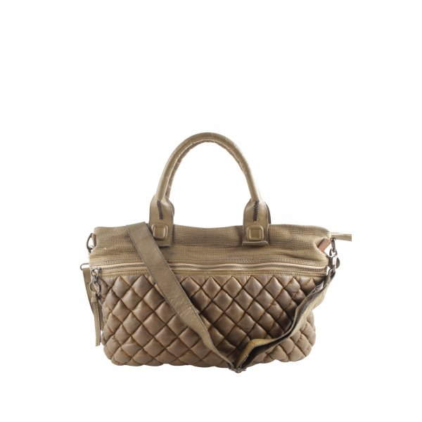 Tyoulip Sisters Schultertasche braun Steppmuster Casual-Look