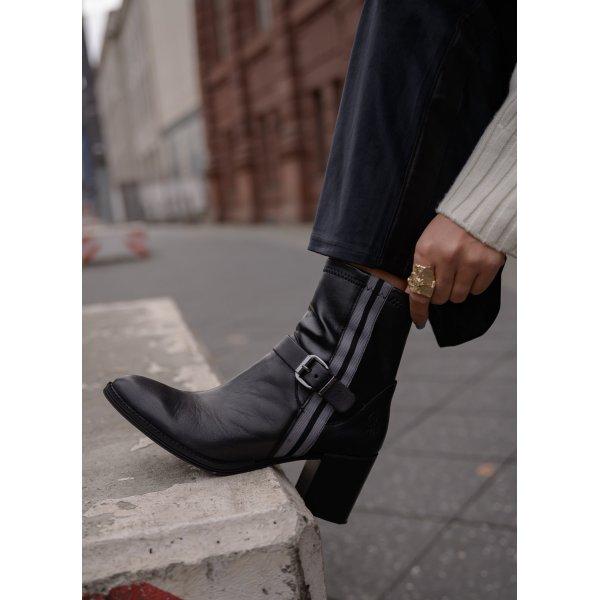 U.s. polo assn. Reißverschluss-Stiefeletten schwarz-hellgrau Casual-Look