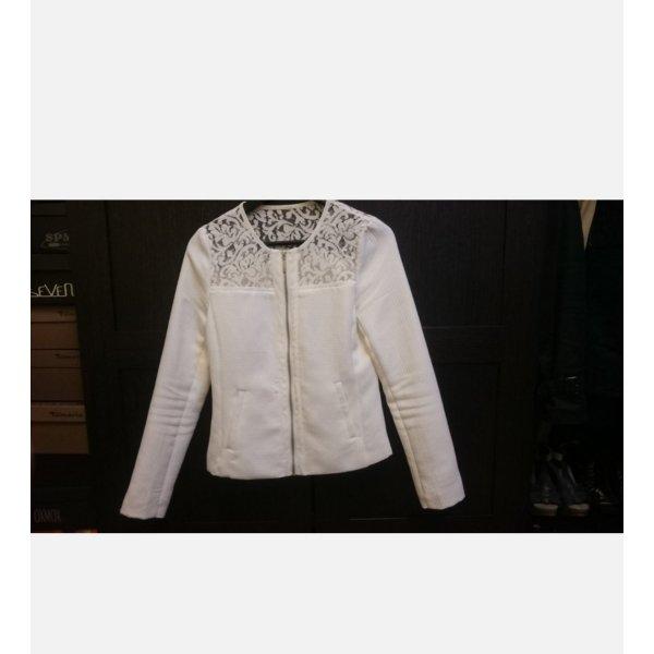 Stradivarius Shirt Jacket white