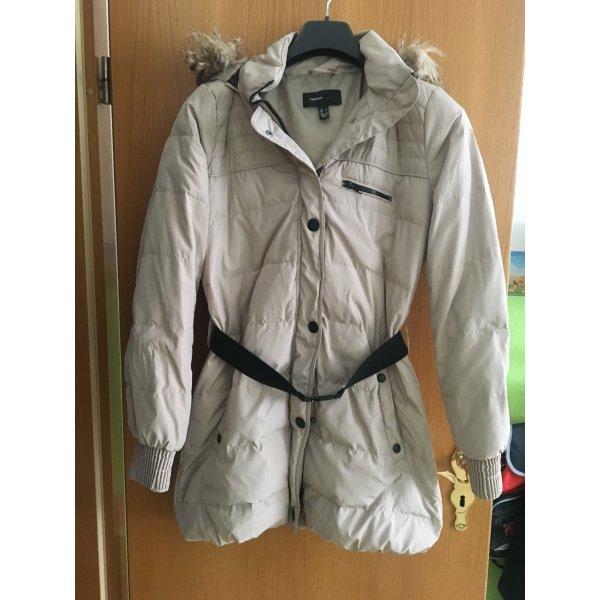 Mango Manteau à capuche beige