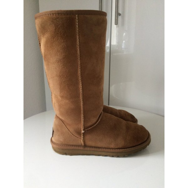 UGG Australia Boots beige sandfarb classic UGG's tall Winterboots Lederboots 37