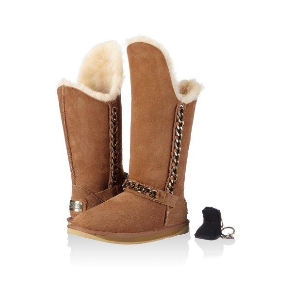 UGG Australia Luxe Stiefel Boots Gr 40 hellbraun Schaffell NEU OVP chestnut NP 419€