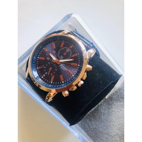 Uhr croco blue