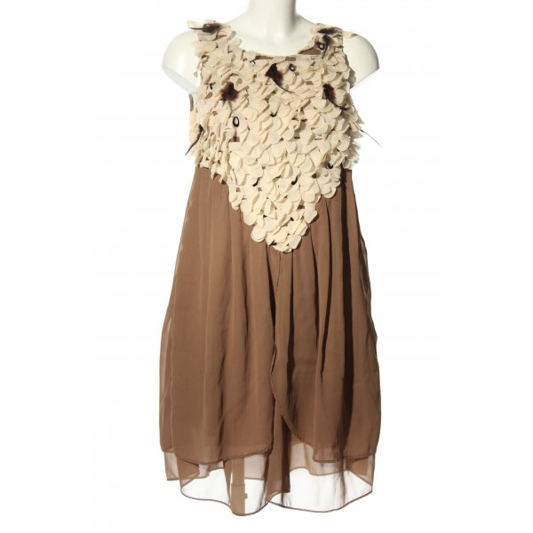 Uldahl Blusenkleid braun-creme Elegant