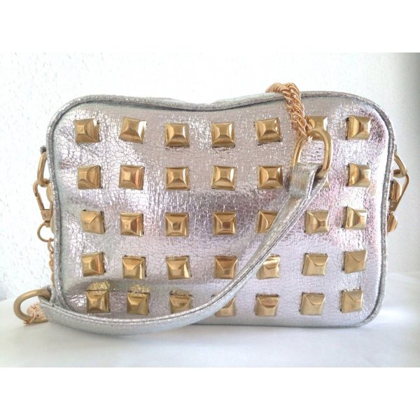 Crossbody bag silver-colored-gold-colored