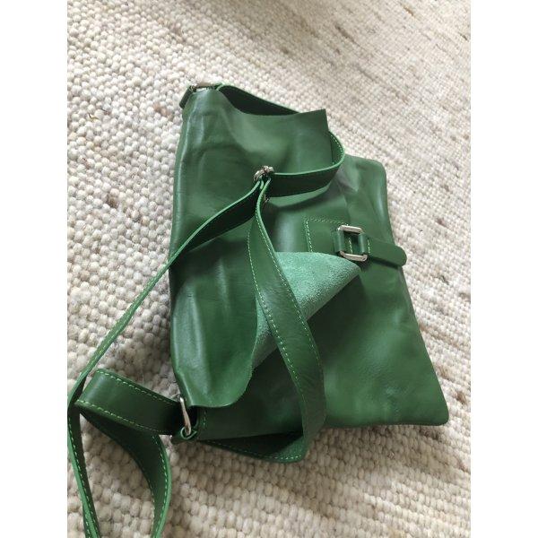 Umhängetasche Tasche Handtasche Clutch neu weiches leder grün