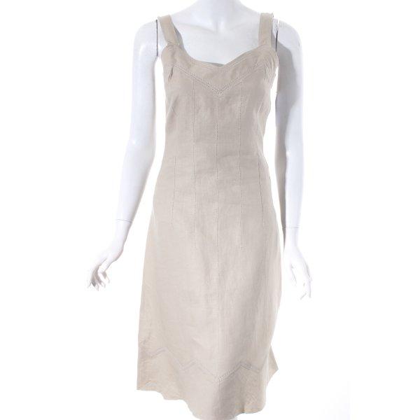 Un Deux Trois A-Linien Kleid beige Elegant