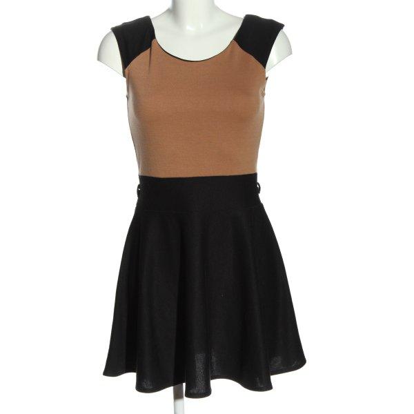 ice london A-Linien Kleid braun-schwarz Casual-Look