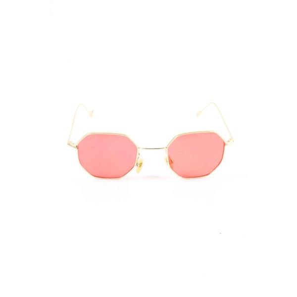 eckige Sonnenbrille goldfarben-pink Casual-Look