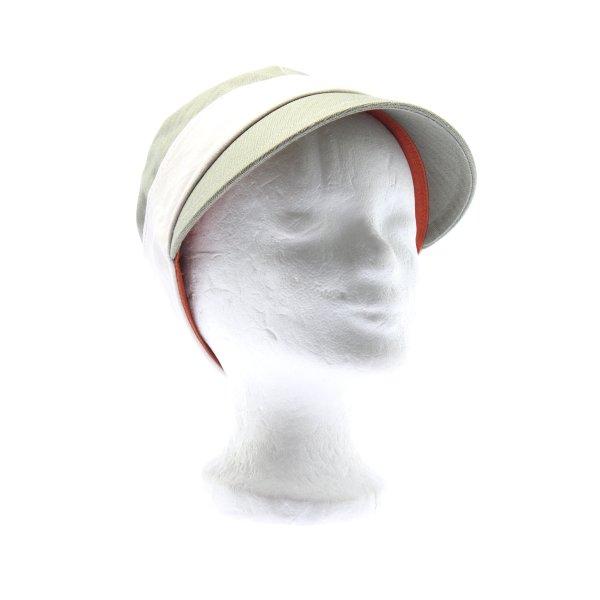 Flatcap wollweiß-khaki sportlicher Stil