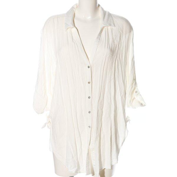 Hemd-Bluse wollweiß Casual-Look