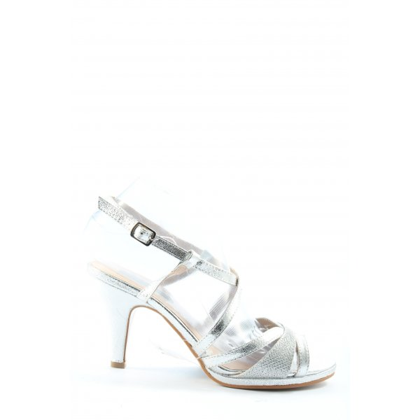 High Heels silberfarben Elegant