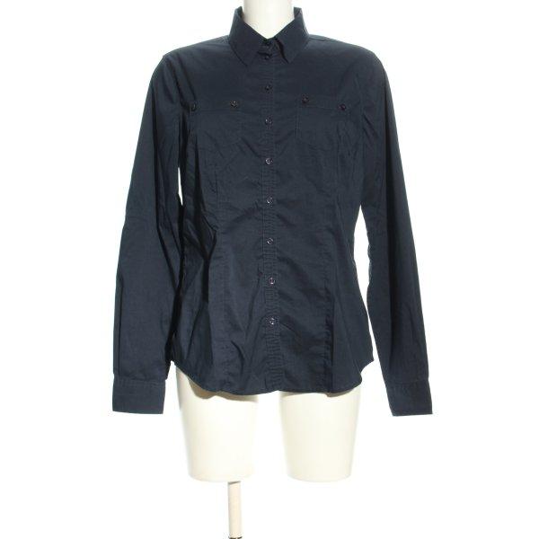 Langarmhemd blau Business-Look
