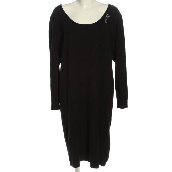 Langarmkleid schwarz klassischer Stil