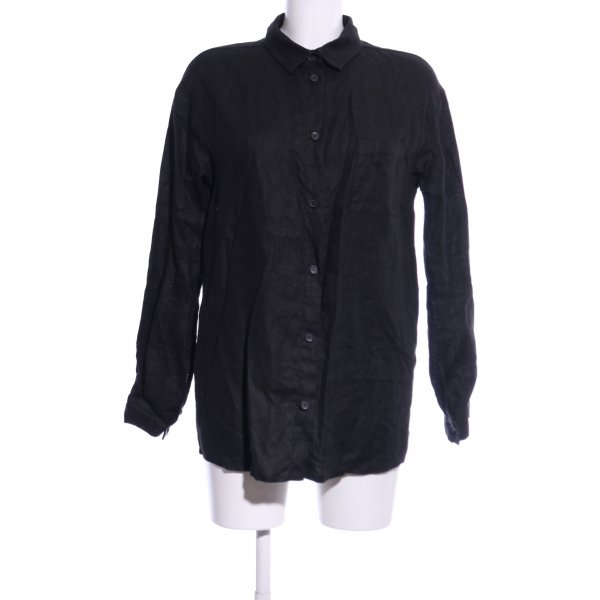 Long-Bluse schwarz Casual-Look