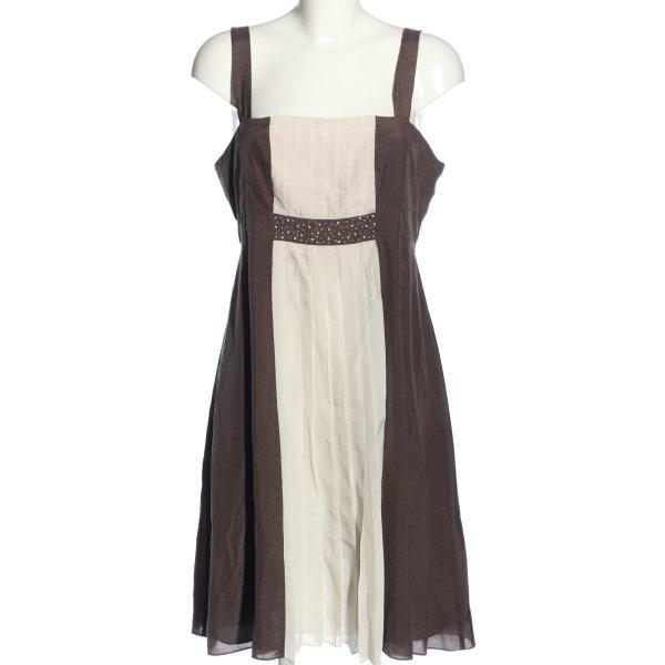Blusenkleid braun-creme Casual-Look
