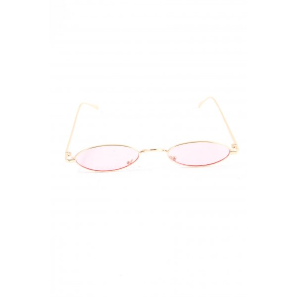 Retro Brille goldfarben-pink Casual-Look