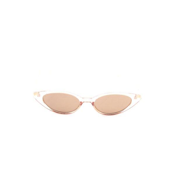 Retro Brille nude-weiß Casual-Look